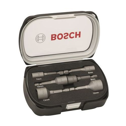 """Zestaw nasadek do uchwytów maszynowych 6 mm, 7 mm, 8 mm, 10 mm, 12 mm, 13 mm Końcówka (wkrętaka) 1/4"""" (6,3 mm) 50 mm Bosch 2608551079, 2608551079"""