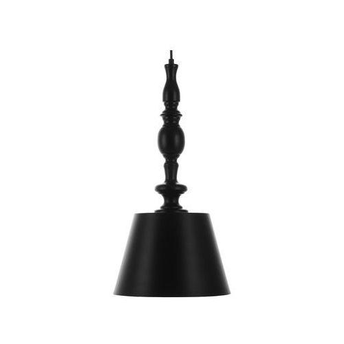 Beliani Lampa wisząca metalowa czarna fluvia