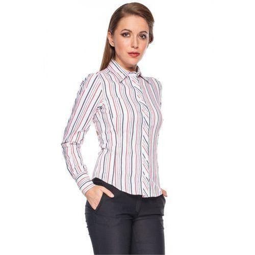 Koszula w pionowe paski - Duet Woman, kolor biały