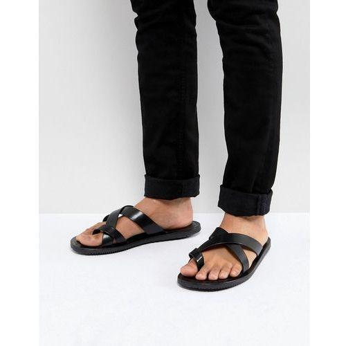 leather sandals in black - black marki Pier one