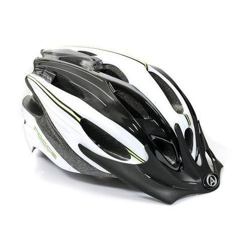 Kask rowerowy MTB Author Rocca - biało-czarno-zielony