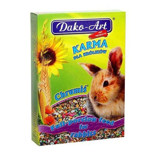 DAKO-ART Chrumiś - pełnowartościowy pokarm dla królików 500g