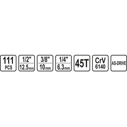 """ZESTAW NARZĘDZIOWY 1/4"""" 3/8"""" 1/2"""" 111CZ Sthor 58692 - ZYSKAJ RABAT 30 ZŁ, 58692"""