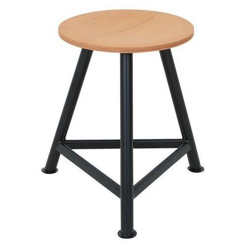 Taboret warsztatowy, siedzisko ze sklejki bukowej, na trzech nogach, wys. siedzi