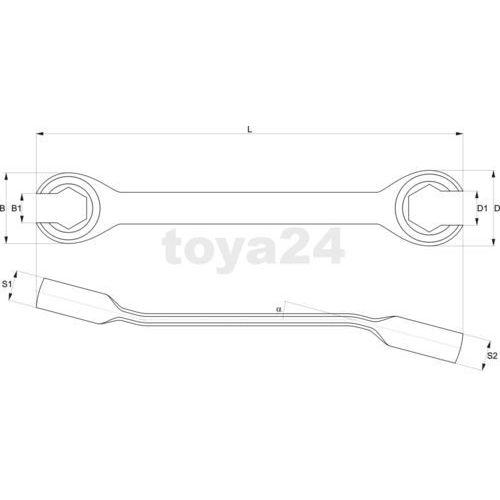 Klucz oczkowy półotwarty, płaski 22x24 mm Yato YT-0140 - ZYSKAJ RABAT 30 ZŁ