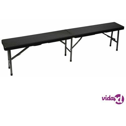 składana ławka stylizowana na wiklinową, czarna, fp160r marki Perel