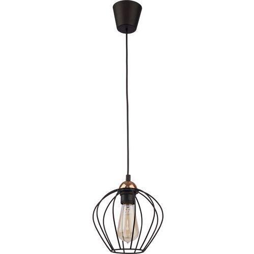 Lampa wisząca druciana zwis oprawa tk lighting galaxy 1x60w e27 czarna/ miedź 1640 marki Tklighting