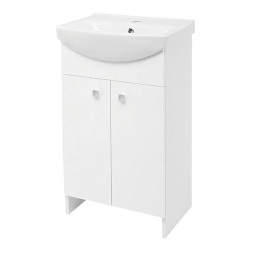 CERSANIT SATI zestaw: szafka + umywalka CERSANIA 50 cm, kolor BIAŁY POŁYSK S567-002-DSM (5907720668440)
