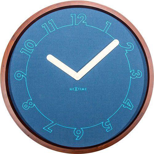 Zegar ścienny Calmest Nextime niebieski (3200) (8717713018711)