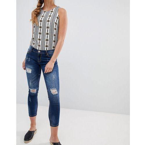 Glamorous ripped skinny jeans - Blue, kolor niebieski