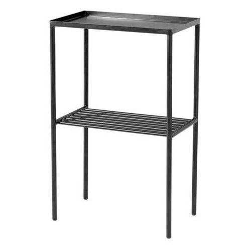 Prostokątny metalowy stolik podręczny, czarny - Bloomingville