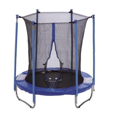 183 cm - zestaw trampoliny z siatką zabezpieczającą - niebieski marki Platinium