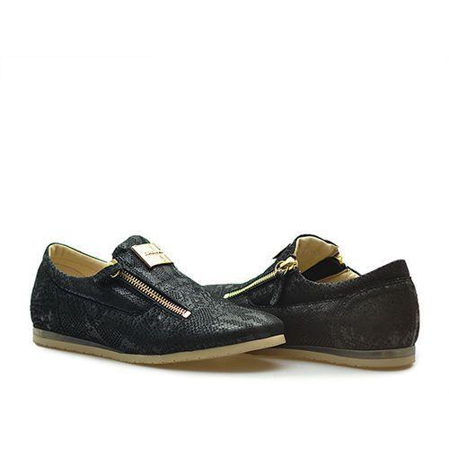 Półbuty Karino 1677/090-P Czarne lico, kolor czarny