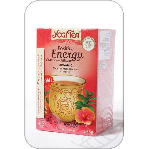 Yogi tea, usa Herbata pozytywne energia żurawina i hibiskus bio (yogi tea) 17 saszetek po 1,8g (4012824402218)