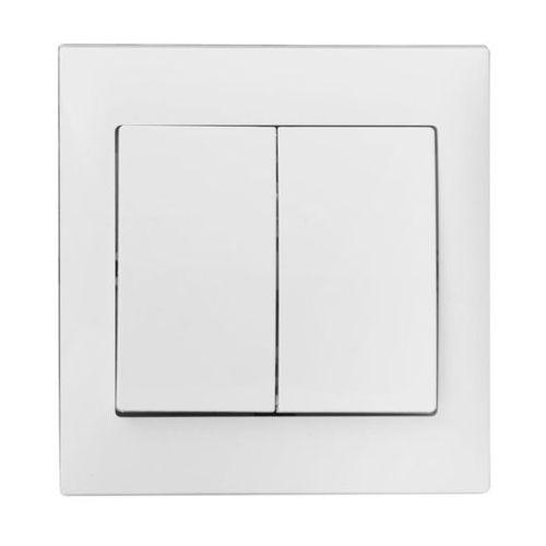 Polmark Włącznik podwójny ines biały (5907559871288)
