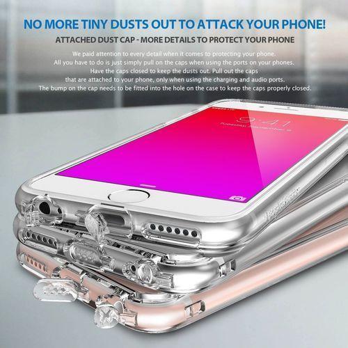 Rearth Obudowa | etui ringke fusion case + folia ochronna | apple iphone 6 6s | kolor black - black (8809419550050)