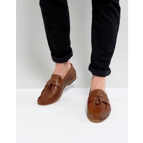 suede loafer with tassels in tan - tan marki River island