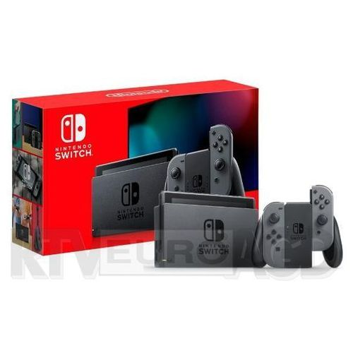 Nintendo Switch Joy-Con v2 (szary) Nowy Model 2019 NSH006, KKONSWITCHGR2