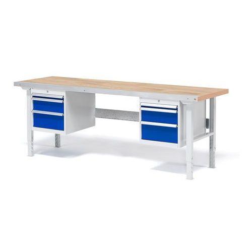 Aj produkty Stół roboczy solid, zestaw z 6 szufladami, 750 kg, 2000x800 mm, dąb