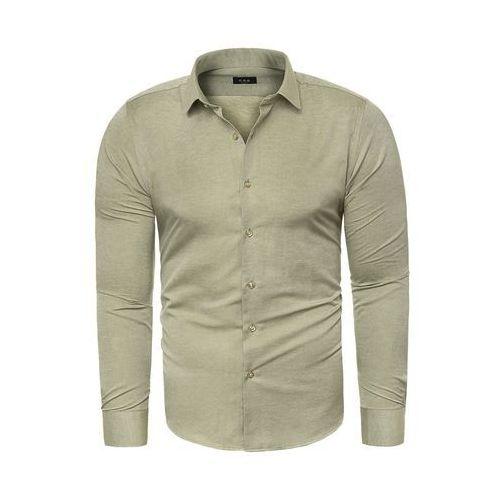 Koszula męska długi rękaw C.S.S 275 - zielona, KOSZULA (RL37) - BIAŁY