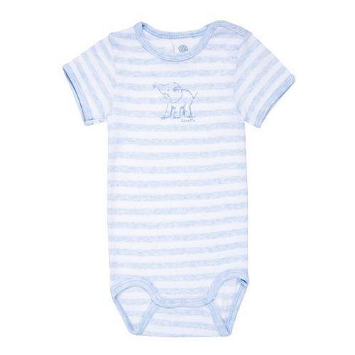 Sanetta 1/2 STRIPED PRINT WILD ONE BABY BOYS Body bleu melange (4055502612486)