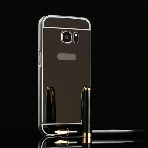 Mirror bumper  metal case czarny | etui dla samsung galaxy s7 - czarny