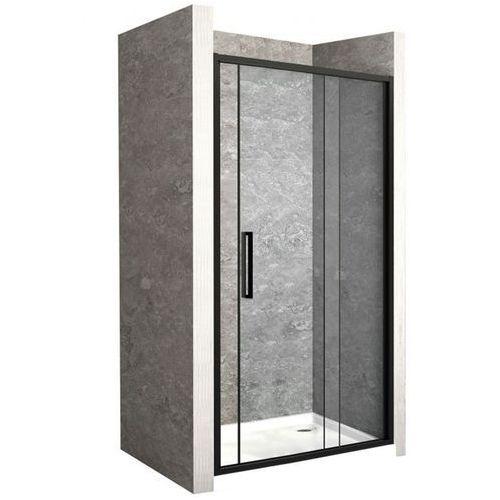 Drzwi prysznicowe z czarnym profilem 110 cm rapid slide uzyskaj 5 % rabatu na zakup marki Rea
