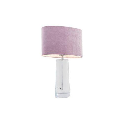 Stojąca LAMPKA sypialniana PRATO 3841 MDECO stołowa LAMPA abażurowa do salonu różowa przezroczysta