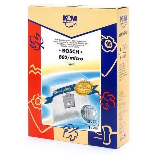 K&m Worek do odkurzacza b02 (4 sztuk) (5907525809215)