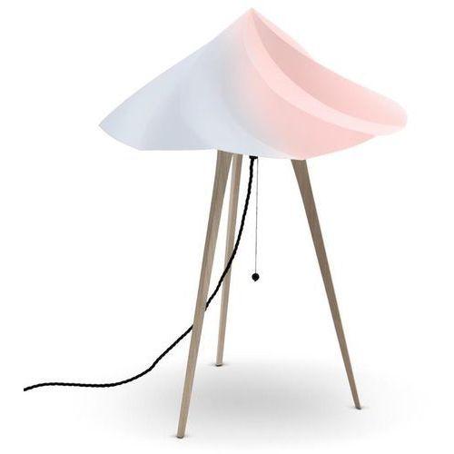CHANTILLY-Lampa stojąca Trójnóg Drewno Wys.65cm