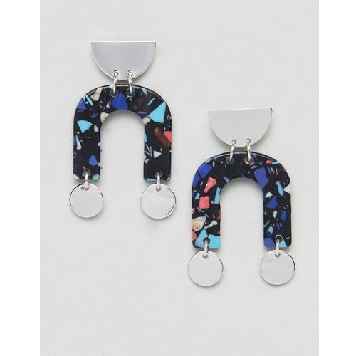 Weekday u shaped earrings - silver