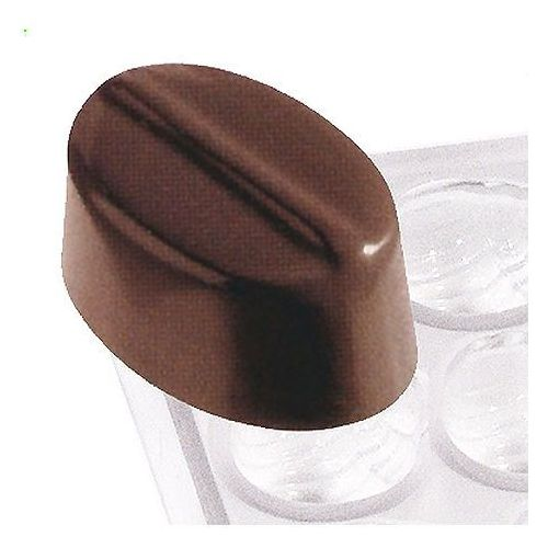Mata z poliwęglanu do czekoladek, owalny z linią | , 6751/012 marki Contacto