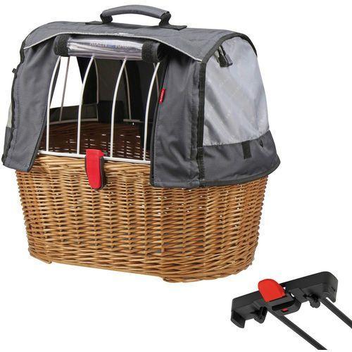 Klickfix doggy basket plus koszyk rowerowy dla racktime brązowy kosze rowerowe na bagażnik (4030572102402)