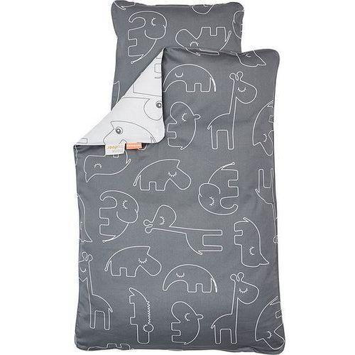 Done by deer Pościel dla dziecka contour 100 x 70 cm szara