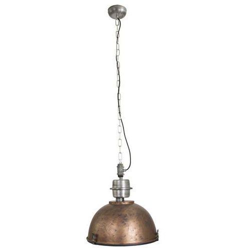 Przemysłowa lampa wisząca stal postarzany brąz - Gospodin