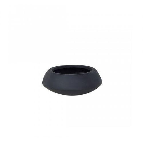 Blmeble Doniczka czarna - ogrodowa - balkonowa - ozdobna - 23x23x13 cm - giulio