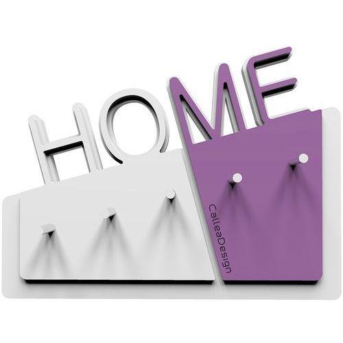 Wieszak na klucze home biały / fioletowy (18-001-73) marki Calleadesign