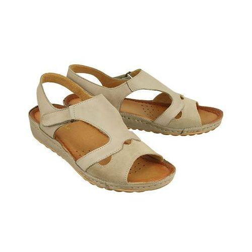 MACIEJKA 03620-10/00-5 ciemny beżowy, sandały damskie, kolor beżowy