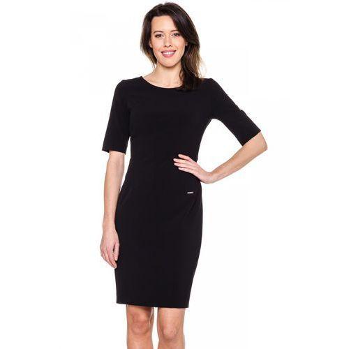 Czarna, dopasowana sukienka - Carmell, kolor czarny