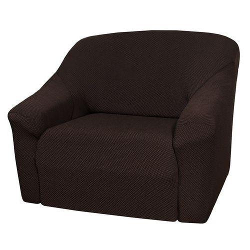 pokrowiec multielastyczny na fotel brązowy elegant, 70 - 110 cm, 70 - 110 cm marki 4home