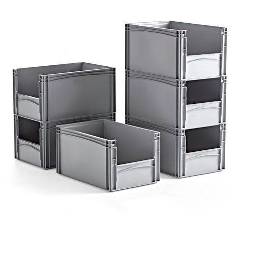 Aj produkty Pojemnik fraser z tworzywa sztucznego, szary, 600x400x320 mm, 6 szt.