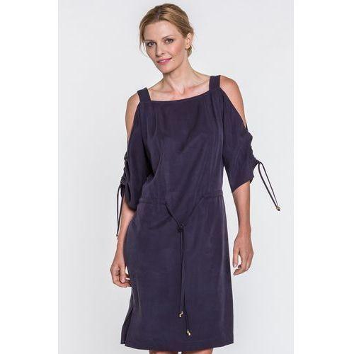 0133515787 Info · Granatowa sukienka z odkrytymi ramionami Magenta - Potis   Verso