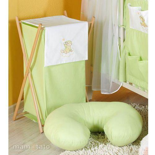 kosz na bieliznę miś na chmurce w zieleni marki Mamo-tato