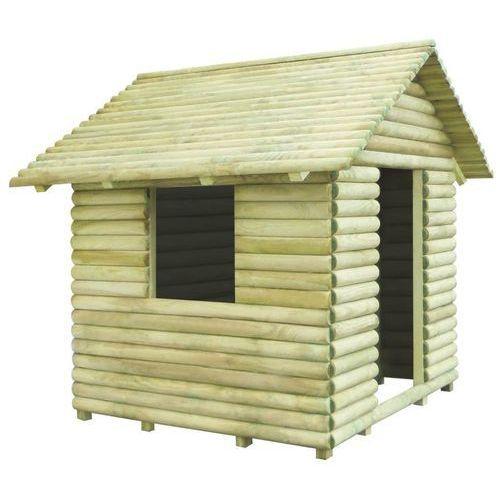 Vidaxl Domek dla dzieci, impregnowane drewno sosnowe, 167x150x151 cm