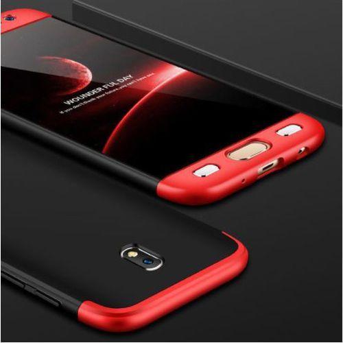 Etui ochronne dla Samsung Galaxy J5 2017 - Czarno-Czerwone - Czarno-Czerwony