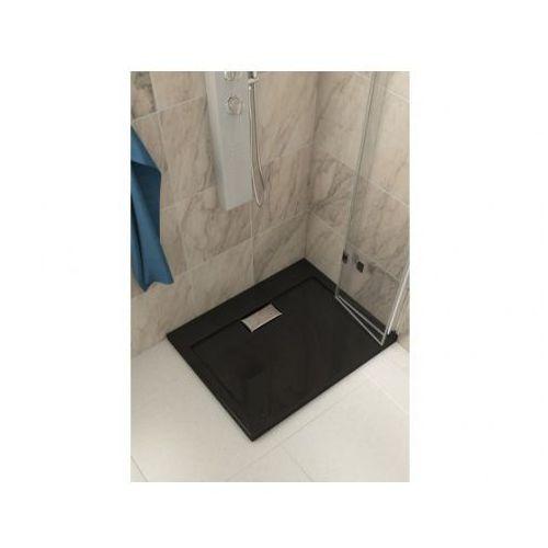 Polimat Brodzik prostokątny mat comfort black 100x80cm 00165
