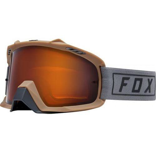 FOX GOGLE AIR SPACE ENDURO GREY - SZYBA DUAL ORA.
