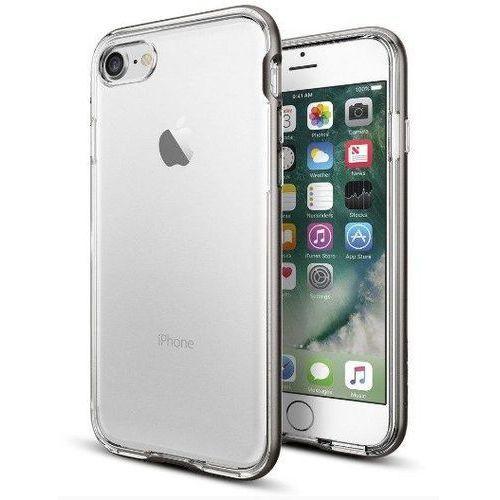 Zestaw   spigen sgp neo hybrid crystal gunmetal   obudowa + szkło ochronne perfect glass dla modelu apple iphone 7 marki Sgp - spigen / perfect glass