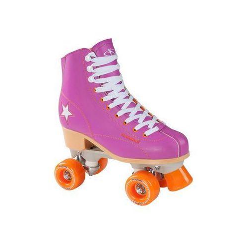 Hudora disco roller skates purple/orange size 37