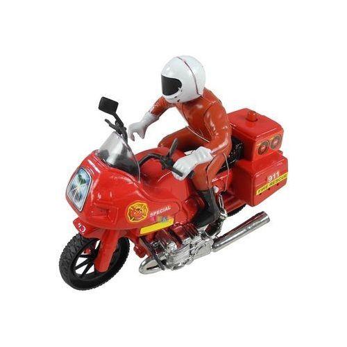 Motocykl Ścigacz ze Strażakiem Światła Dźwięki (1818911625125)